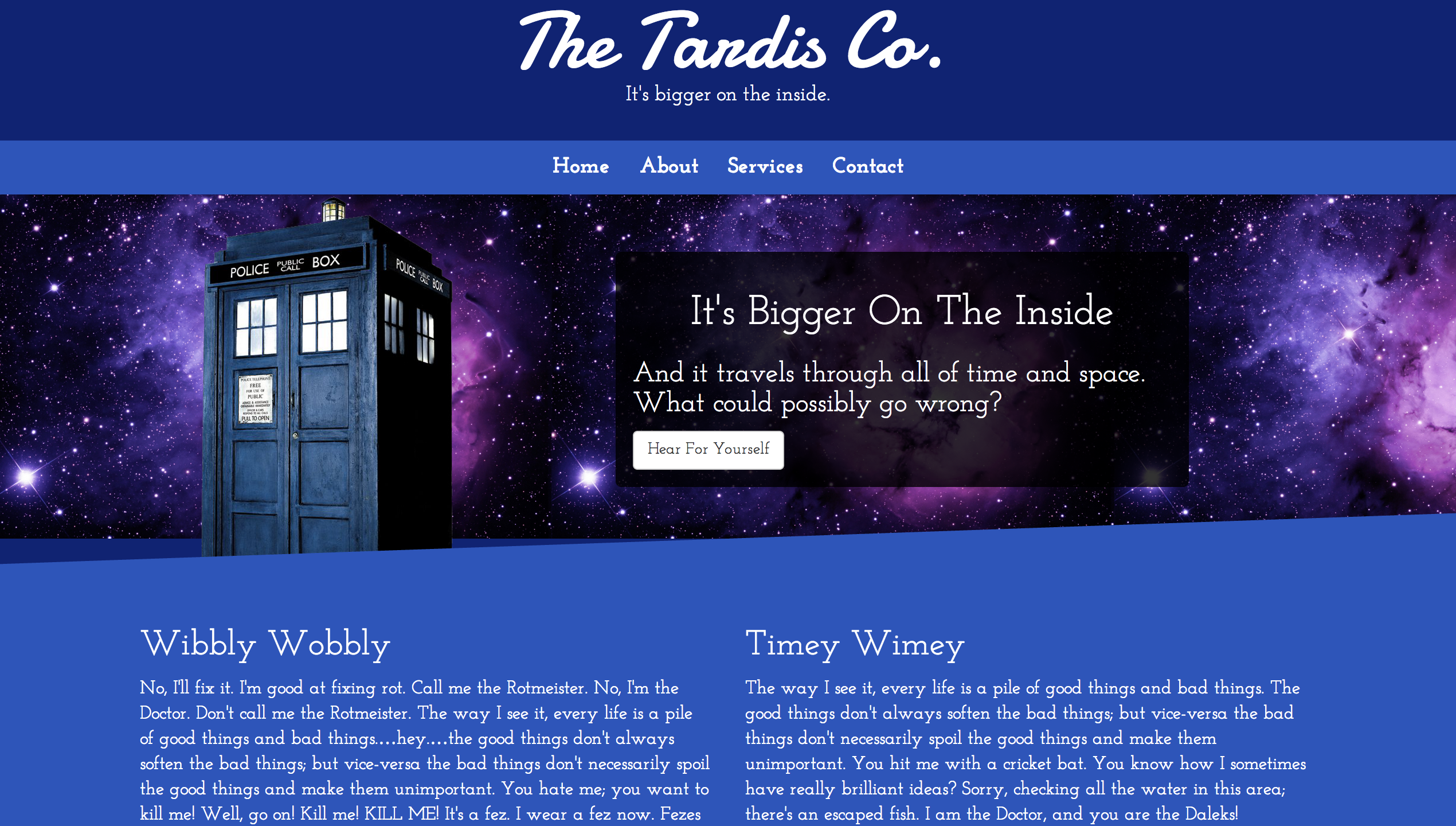 The Tardis Co.